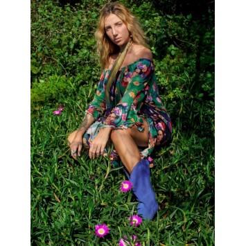 Robe Tunique Bohème FRIDA K imprimé exclusif de la marque brésilienne YACAMIM