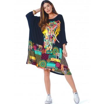 Robe Tunique Oversize Tête...