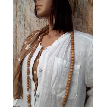 Robe chemise longue en lin REBECCA