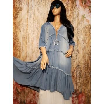 Robe Tunique SHANNON Bleu Jean...