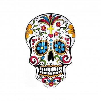 Matelas gonflable tête de mort mexicaine