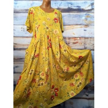 Robe longue FANNY coton fleuri