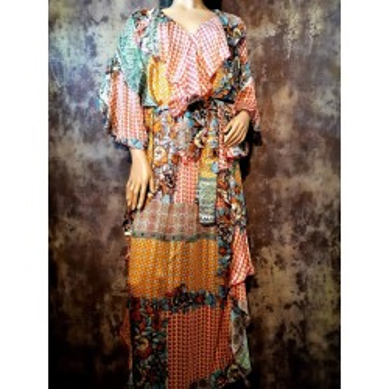 Robe longue MINKA imprimé Patchwork Bohème