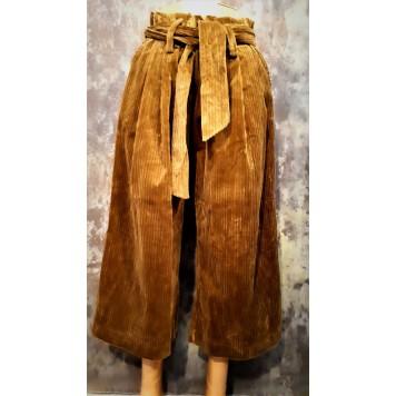 Pantalon velours DIANA large et...