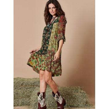 Robe courte LYSA patchwork YACAMIM