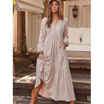Robe Longue ALYSHA coton marque...