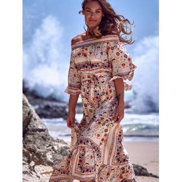 Robe longue JOHANNA imprimé JAASE