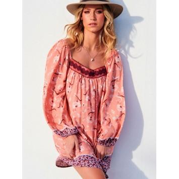 Robe Tunique Bohème Chic KAROLL imprimée marque JAASE