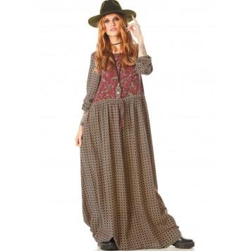 Robe longue JANET Bohème Folk...