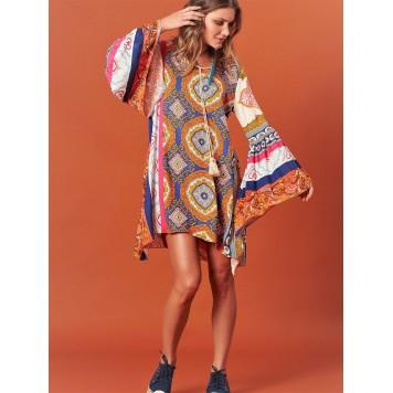 Robe tunique NICKY imprimée de...