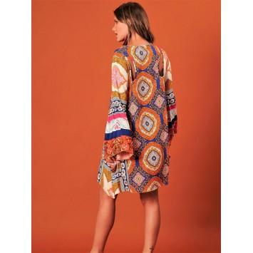 Robe tunique hippie chic NICKY de la marque brésilienne YACAMIM